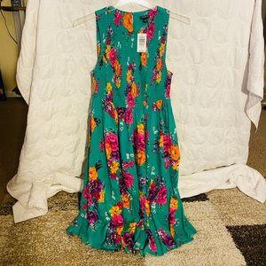 Torrid floral challis smocked dress